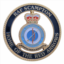 RAF Scampton - Home Of The Red Arrows Diamond 9 Royal Air Force Celebration Coin